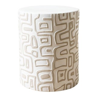 Loman Ceramic Stool For Sale
