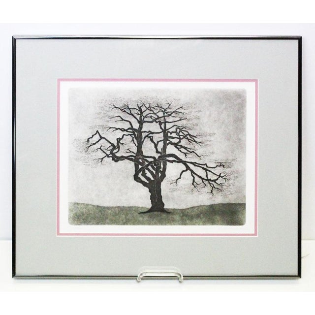 Silver Framed Dogwood Tree Print For Sale - Image 8 of 8