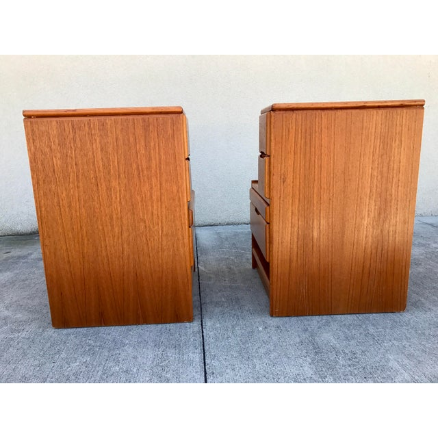 Danish Modern Teak End Tables- A Pair - Image 5 of 11