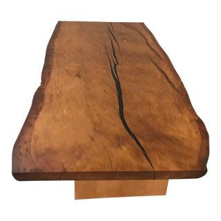 Kauri Wood Solid Slab Table