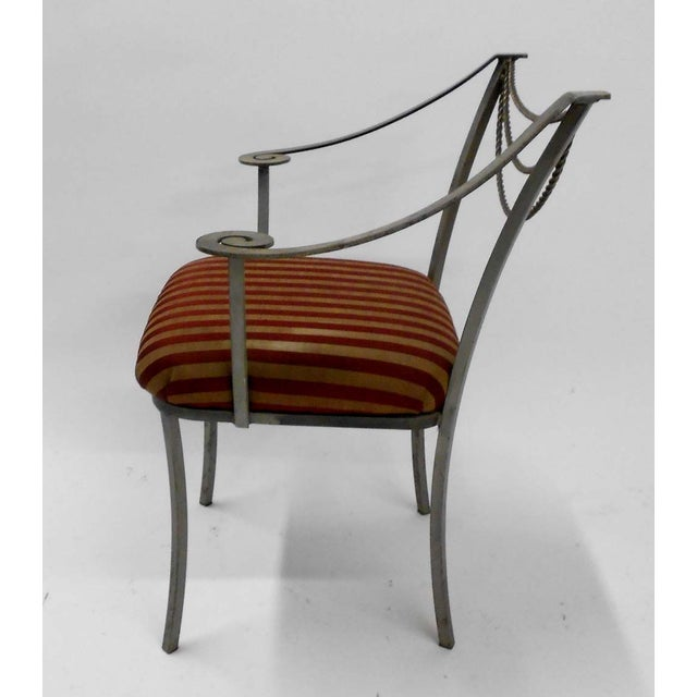 Neoclassical Inspired Metal Armchair - Image 4 of 8