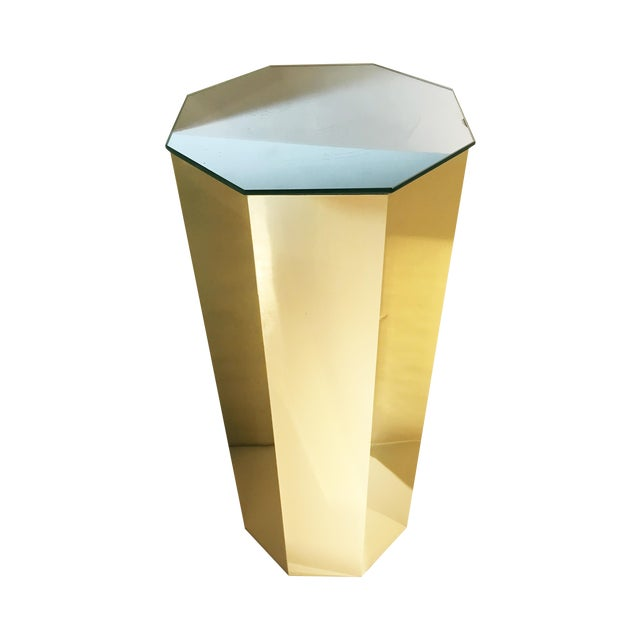 Brass Hexagonal Pedestal Column - Image 1 of 6