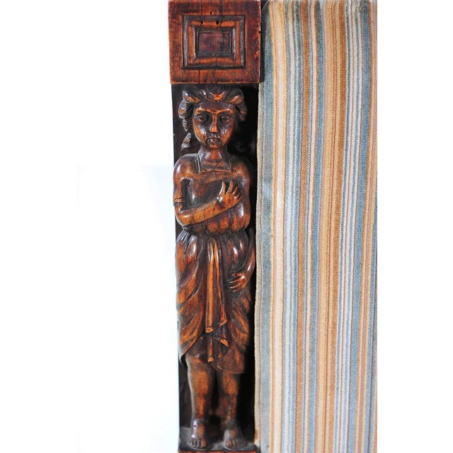 French 19th Century Carved Renaissance Arm Chair For Sale - Image 3 of 10