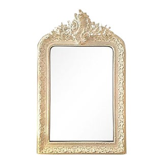 19th Century French Painted Louis-Philippe Mirror With Frieze For Sale