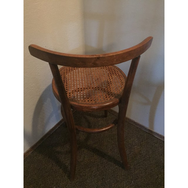 Wood 1930s Antique Thonet Style Bentwood Counter Bar Stool For Sale - Image 7 of 13