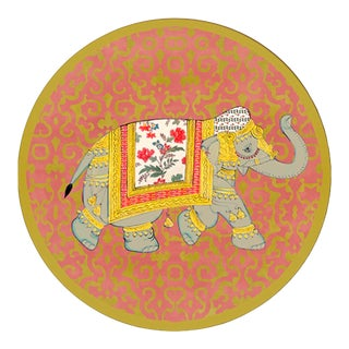 Italian Elephant Round Placemat For Sale