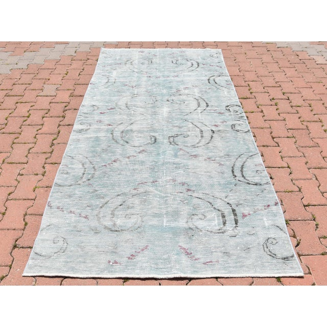 Distressed Vintage Boho Chic tribal Handwoven pure wool Decorative Area Rug. It has been professionally cleaned and washed...