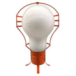 Huge 1960s Pop Art Lightbulb Lamp