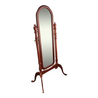 1960s Mahagony Cheval Standing Mirror For Sale
