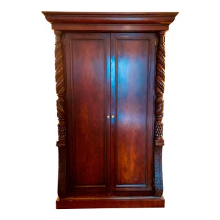 Ralph Lauren Safari Collection Mahogany Armoire For Sale