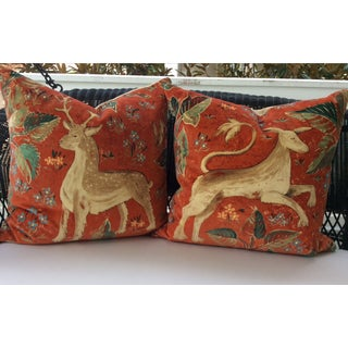 Melissa White Zoffany Arden Red Down Pillows - a Pair Preview