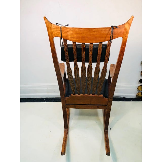 1990s Exceptional and Monumental Rosewood Rocking Chair by Stephen O'Donnell For Sale - Image 5 of 11