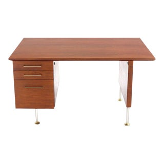 Mid 20th Century Vintage Danish Modern Walut Desk For Sale