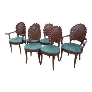 Italian Shell Chairs - Set of 6 For Sale