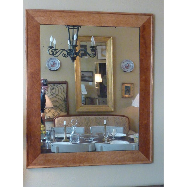 Large 19th Century birdseye maple frame with distressed clouded and speckled mirror, sturdy backer & hangers ready to...