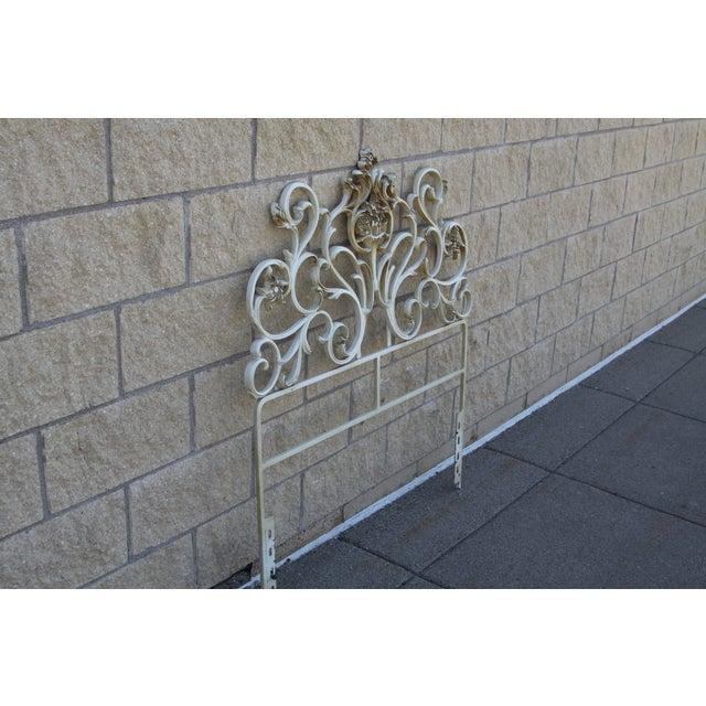 Metal Scroll Twin Headboard - Image 3 of 8