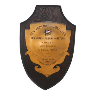 1910 Antique New York Motor Boat Trophy For Sale