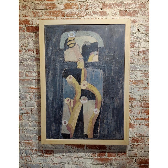 Miguel Castro Lenero -The Thinker -Abstract - Oil Painting For Sale - Image 10 of 10