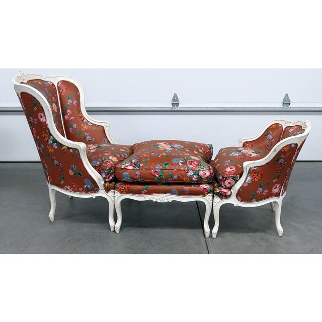 Early 20th Century Vintage Louis XV Style Chaise- 3 Piece For Sale - Image 13 of 13