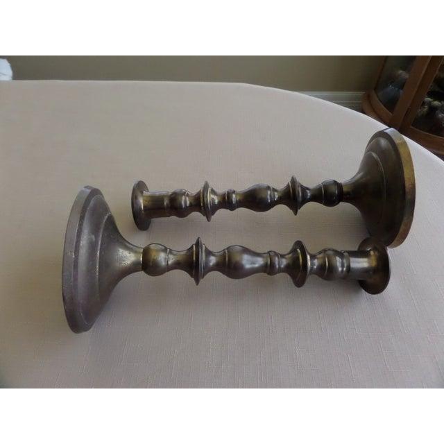 Vintage Brass Candle Holders - A Pair - Image 7 of 11