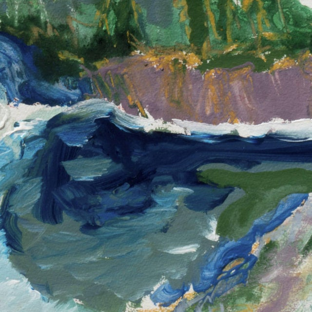'Hidden Cove, Big Sur' by Robert Canete, Post-Impressionst California Seascape For Sale - Image 4 of 7