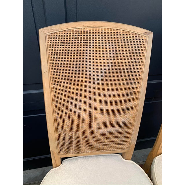 Mid-Century Tall Cane Back Dining Chairs - Set of 6 For Sale In Los Angeles - Image 6 of 10