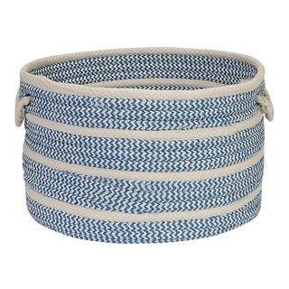 Poppy Blue Ice Banded MIX Basket 14x10