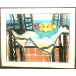 Interior With Still Life Modern Pastel on Paper Preview