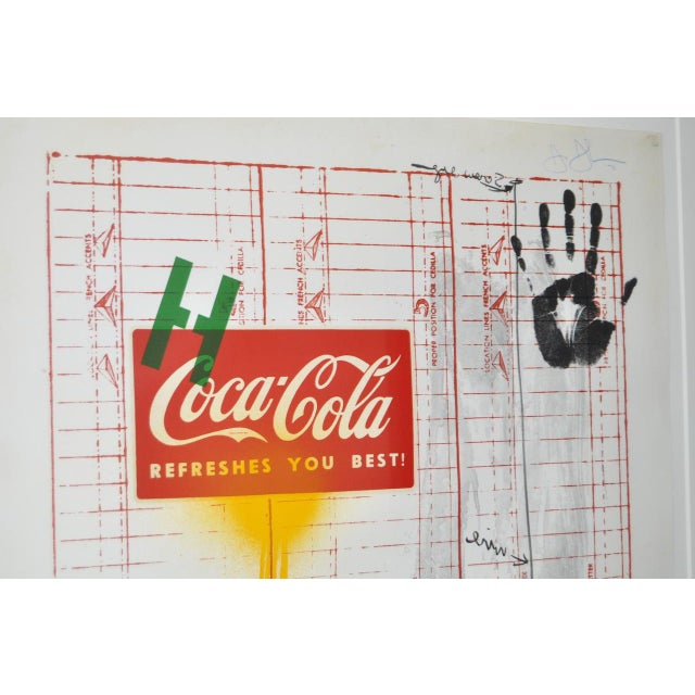 """Abstract Circa 1971 """"Coca Cola"""" Signed Color Lithograph By Jasper Johns For Sale - Image 3 of 9"""