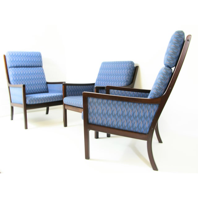 Danish Modern Lounge Chairs by Ole Wanscher for P. Jeppesen - Set of 3 - Image 2 of 8