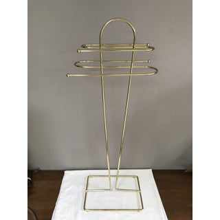 Mid-Century Modern Brass Wire Free Standing Towel Rack Preview