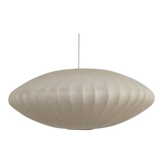 Vintage Mid Century Modern George Nelson Bubble Saucer Ceiling Light For Sale