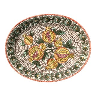 Vintage Italian Mosaic Design Serving Platter / Wall Art For Sale