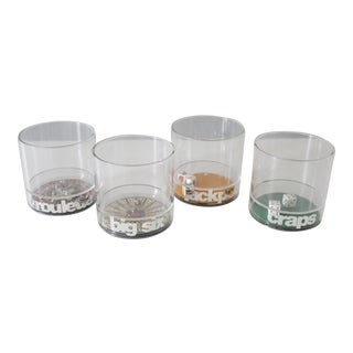 Mike Wilson Vintage Casino Glasses - Set of 4