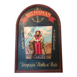 Vintage Nautical Helmsman Billboard For Sale