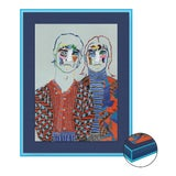 Image of Missoni AW20 by Robson Stannard in Light Blue Acrylic Frame, XS Art Print For Sale