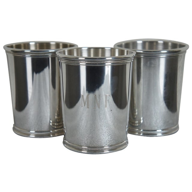 Sterling Silver Mark J Scearce Presidential Mint Julep Cups Richard Nixon Rmn - Set of 3 For Sale - Image 13 of 13