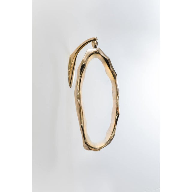 2010s Markus Haase, Bronze and Onyx Circlet Sconce, Usa, 2018 For Sale - Image 5 of 8