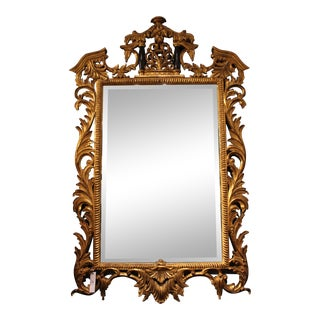 Gold Carved Mirror For Sale