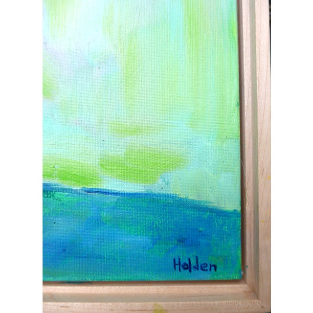 Impressionist Two French Roses on Green Contemporary Oil Painting For Sale - Image 4 of 8