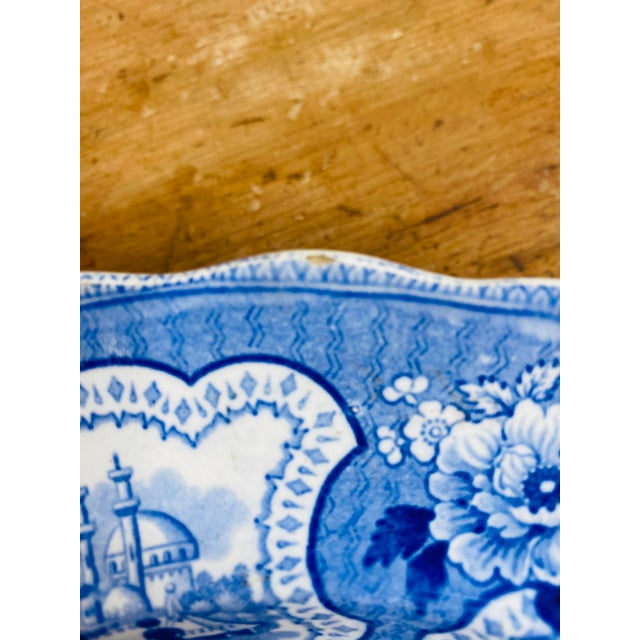 Blue Antique Early 19th Century Staffordshire Blue and White Transferware Dinner Plates -Set of 6 For Sale - Image 8 of 9