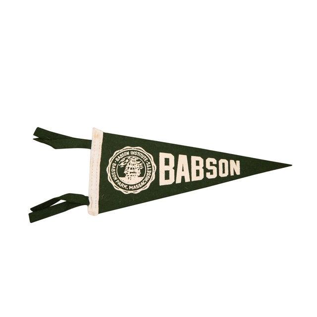 Massachusetts Babson Institute Felt Flag - Image 1 of 3