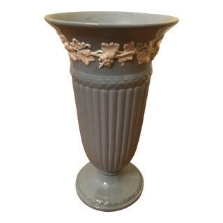 1960s Vintage Blue Wedgwood Vase For Sale