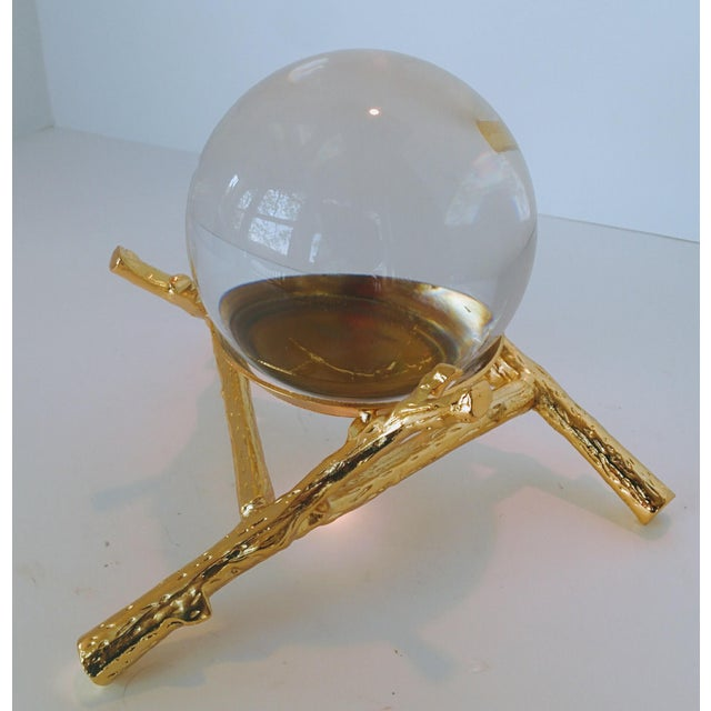 Crystal Orb With Gold Base - Image 8 of 9