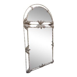 Palm Frond Motif Hall Mirror For Sale