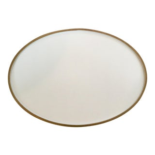 Barbara Barry Elegant Oval Drinks Tray by Barbara Barry For Sale
