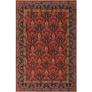 Contemporary Zeigler Hand Knotted Roselee Red Wool Rug - 8′ × 10′ For Sale