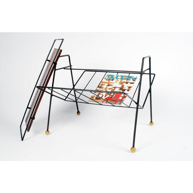 1950s Tony Paul Magazine Rack Tray Table For Sale - Image 5 of 5