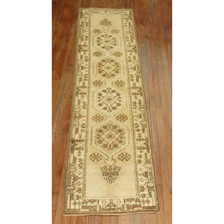 Creamy Yellow Vintage Turkish Runner, 2'5'' X 9'7'' Preview