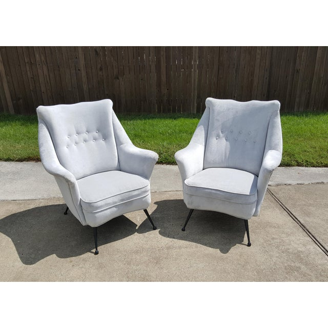 Gio Ponti Style Italian Lounge Chairs - a Pair For Sale - Image 12 of 12